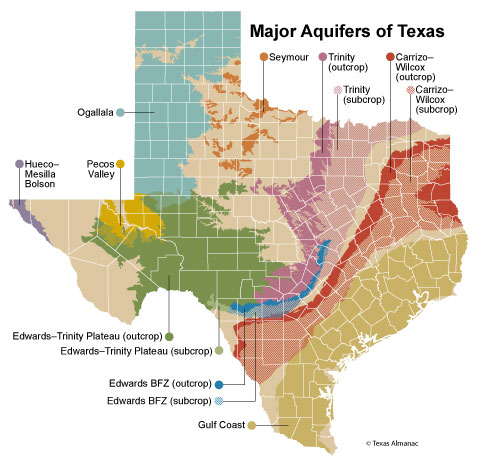 Texas hill country map with cities
